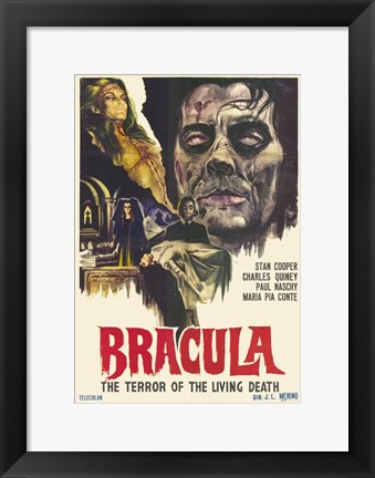 Framed Dracula the Terror of the Living Dead Print