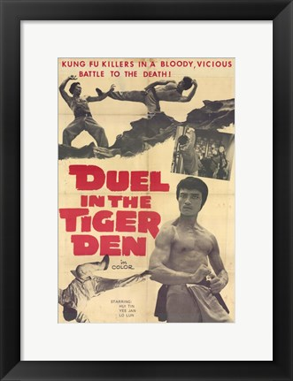 Framed Duel in the Tiger Den Print