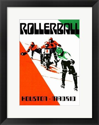 Framed Rollerball - Red and Green Print