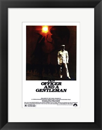 Framed Officer and a Gentleman Print