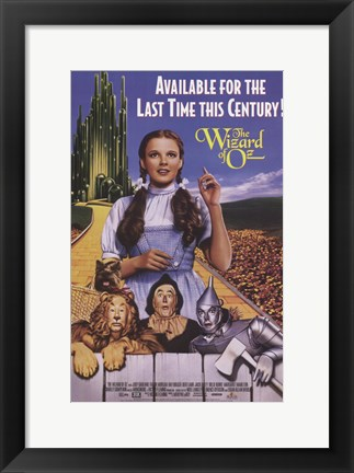 Framed Wizard of Oz Last Time this Century Print