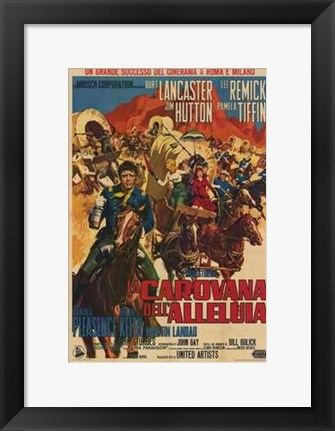 Framed Hallelujah Trail movie poster Print