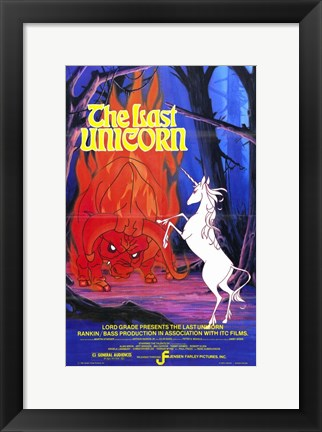 Framed Last Unicorn Print