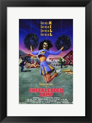 Framed Cheerleader Camp Print
