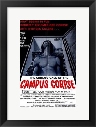 Framed Curious Case of the Campus Corpse Print