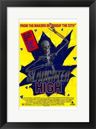 Framed Slaughter High Print