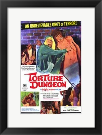 Framed Torture Dungeon Print
