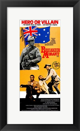 Framed Breaker Morant - tall orange Print