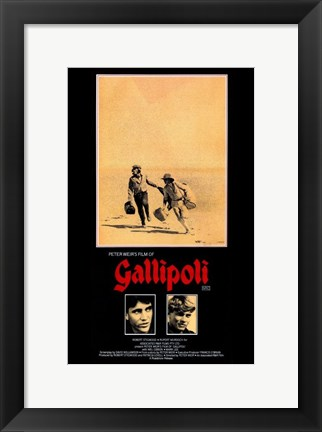 Framed Gallipoli - two men Print