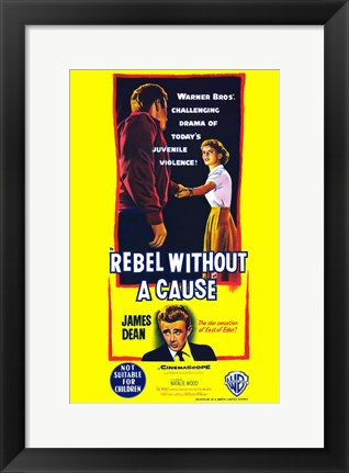 Framed Rebel Without a Cause Bright Yellow Print