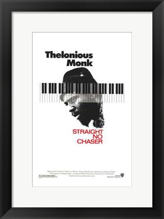 Framed Thelonious Monk: Straight  No Chaser Print