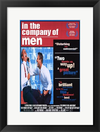 Framed in the Company of Men Print