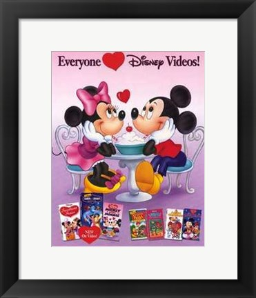 Framed Disney Video Posters Everyone loves disney videos Print