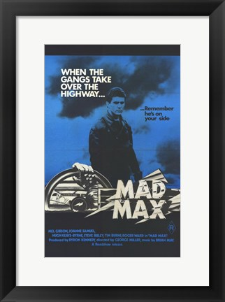 Framed Mad Max Gangs Take Over the Highways Print