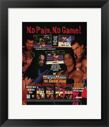Framed Wwf Wrestlemania Print