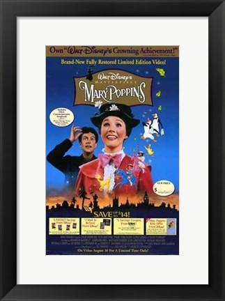 Framed Disney Video Posters - Mary Poppins Print