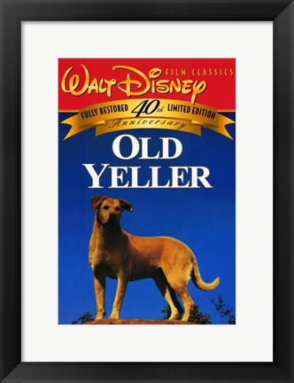 Framed Old Yeller - Film Classics Print