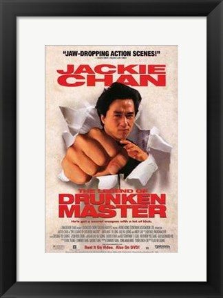 Framed Legend of Drunken Master Print