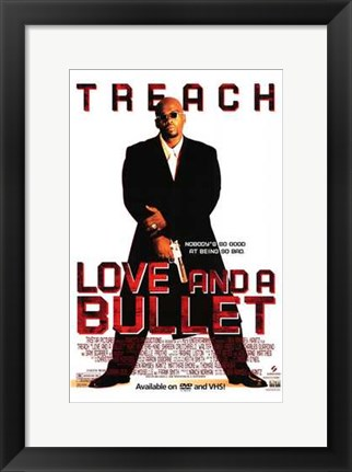 Framed Love and a Bullet Print