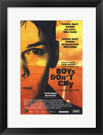 Framed Boys DonT Cry Print