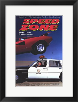 Framed Speed Zone Print