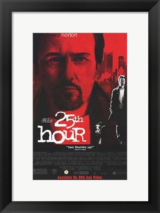 Framed 25Th Hour Print