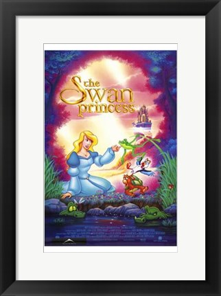 Framed Swan Princess Print