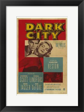Framed Dark City Print
