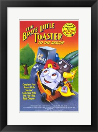 Framed Brave Little Toaster to the Rescue Print
