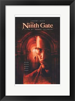 Framed Ninth Gate Johnny Depp Print