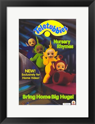 Framed Teletubbies: Nursery Rhymes Print