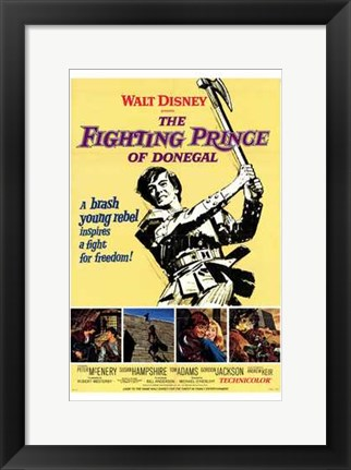 Framed Fighting Prince of Donegal Print