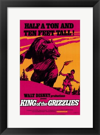 Framed King of the Grizzlies Print