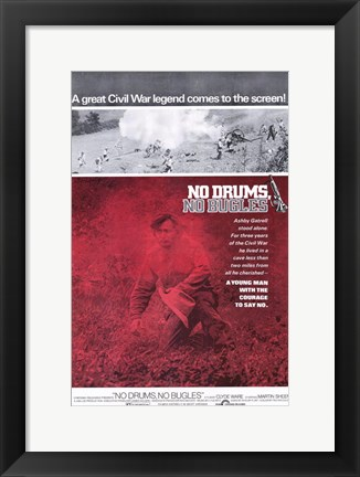 Framed No Drums No Bugles Print