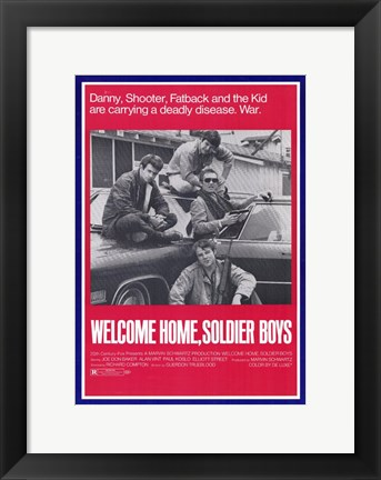 Framed Welcome Home Soldier Boys Print