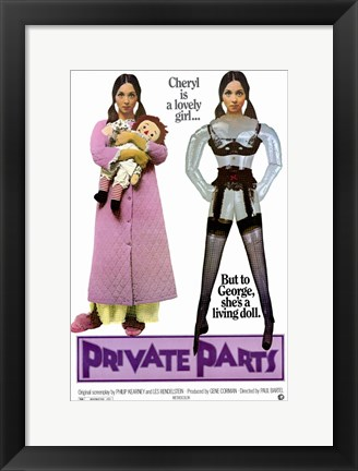Framed Private Parts Print