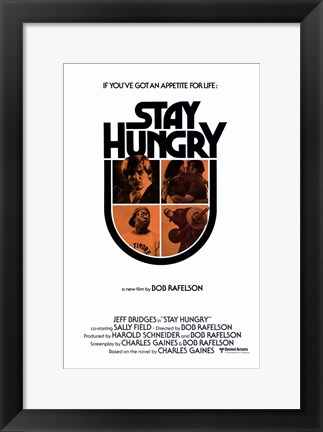 Framed Stay Hungry Print