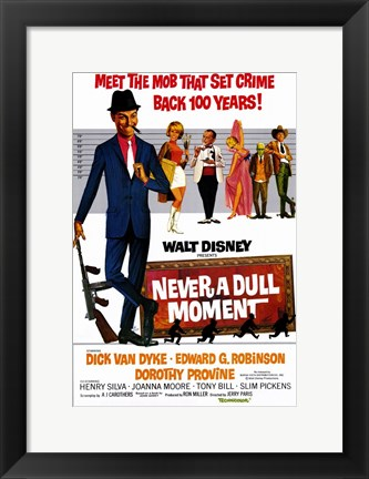 Framed Never a Dull Moment Dick Van Dyke Print