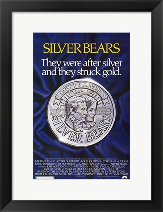 Framed Silver Bears Print