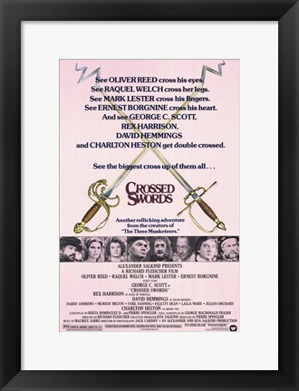 Framed Crossed Swords Print