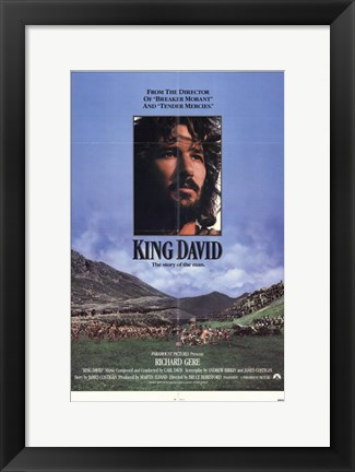 Framed King David Print
