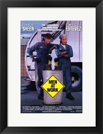 Framed Men At Work Print