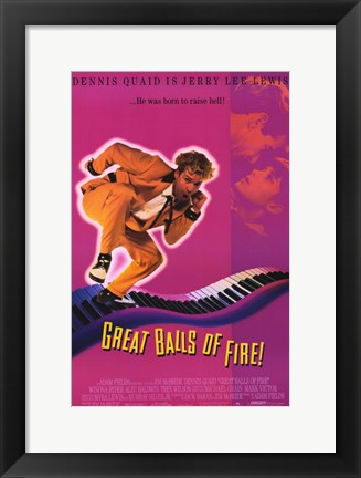 Framed Great Balls of Fire Jerry Lee Lewis Print