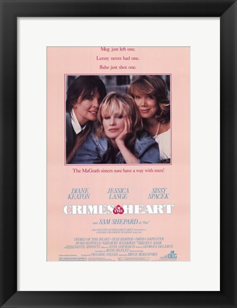 Framed Crimes of the Heart Diane Keaton Print
