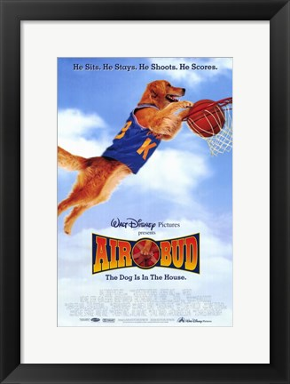 Framed Air Bud: Golden Receiver (basketball) Print