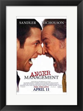 Framed Anger Management Print