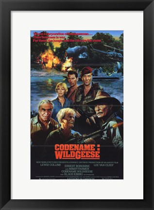 Framed Code Name Wild Geese Print