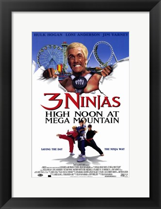 Framed 3 Ninjas: High Noon At Mega Mountain Print