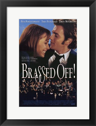 Framed Brassed Off Print