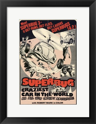 Framed Superbug Craziest Car in World Print
